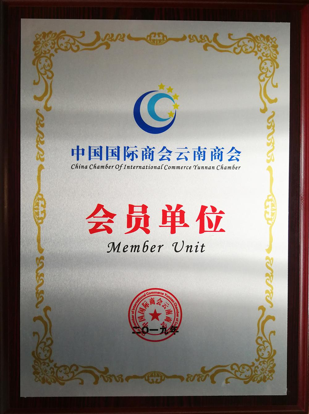 中国国际商会云南商会会员单位